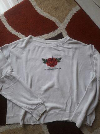 Pull&Bear White Baggie Sweatshirt