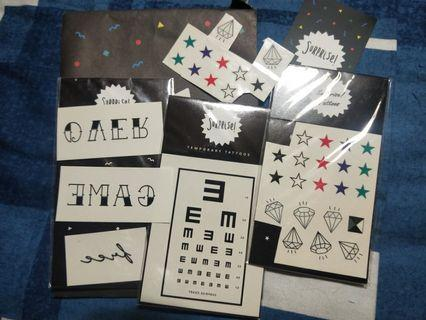 surprise tattoos pinkoi 紋身貼紙 文青 幾何 星星 鑽石
