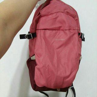 全新粉紅帆布後背包