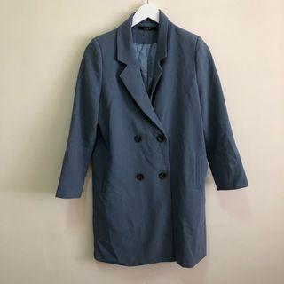 復古雙排釦休閒外套