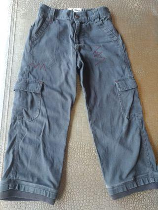 OshKosh6T 灰黑色寬管薄長褲