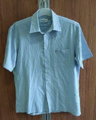 YSL POUR HOMME CHECKERED CASUAL SHIRT