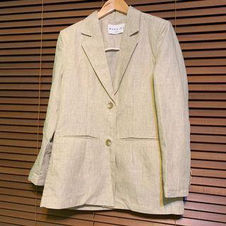 韓國🇰🇷東大門選物 麻料挺版西裝外套
