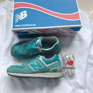 原廠正品附盒+鞋帶 NEW BALANCE 湖水綠慢跑鞋 球鞋