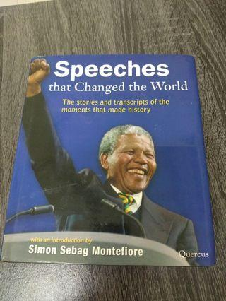BOOK - SPEECHES THAT CHANGED THE WORLD