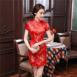 Cheongsam Dress qiphao qi pao qipao red chinese