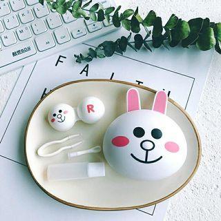 LINE兔兔🐰隱形眼鏡伴侶盒 | 隱形眼鏡盒 | 近視眼鏡盒 | 美瞳盒子 | 雙聯盒