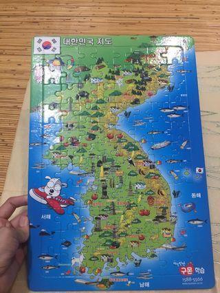 Puzzle Original peta korea
