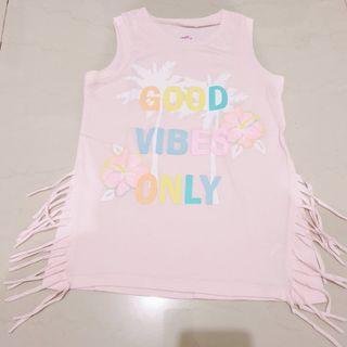 Kaos anak pink rumbai (girl)