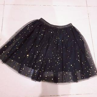Rok Mini anak zara black (mini skirt)