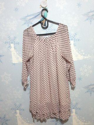 Polkadot mididress