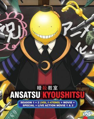 Ansatsu Kyoushit Season 1 + 2 (Vol.1-47 End) + MOVIE + SPECIAL + LIVE ACTION MOVIE 1 & 2 Anime DVD