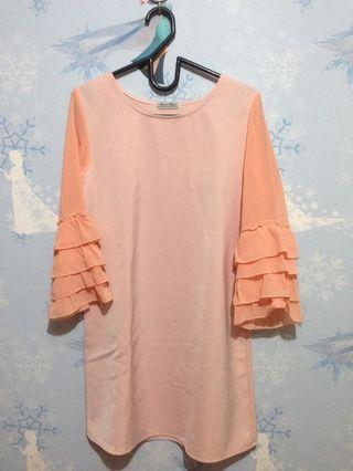 Peach Top mididress