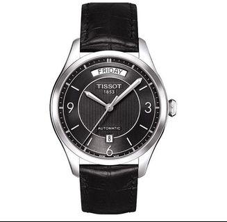 Tissot T-One Automatic Day/Date Black Dial Strap Watch T038.430.16.057.00