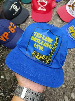 Vintage Trucker Cap Tri line drilling