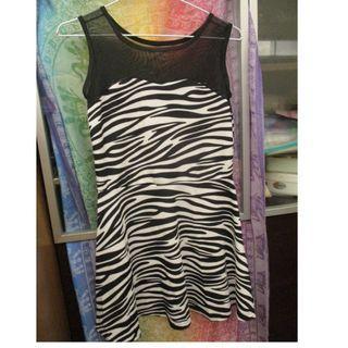 斑馬紋 外搭式 洋裝 #5折清衣櫃
