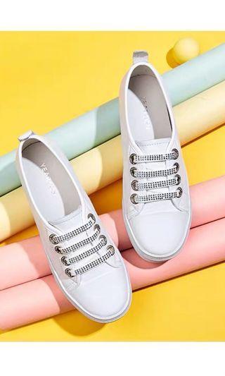 皮質內增高小白鞋22.5