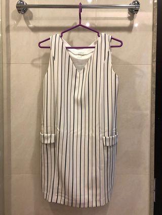 Pazzo直條紋洋裝