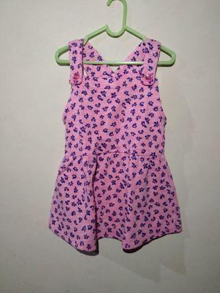Take All Dress Anak / Overall Anak 3pcs