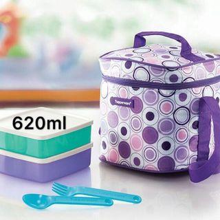 Take N Go set (2 pcs 620ml tupperware and bag)