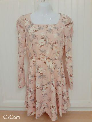 0918玫瑰粉色洋裝