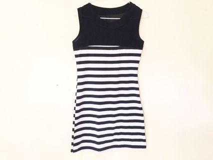 Mesh stripe dress