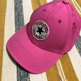 🔴古著 復古 Converse 老帽 鴨舌帽 遮陽帽 粉色 粉紅 vintage