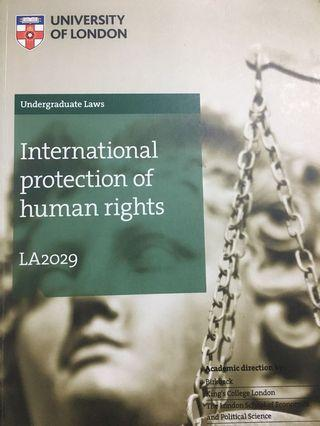 International Protection of Human Rights UoL Subject Guide