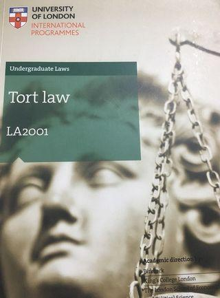 Tort Law UoL Subject Guide