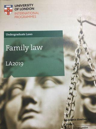 Family Law UoL Subject Guide