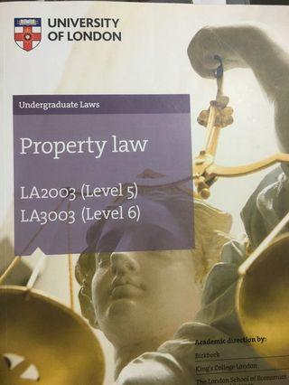 Property Law UoL Subject Guide