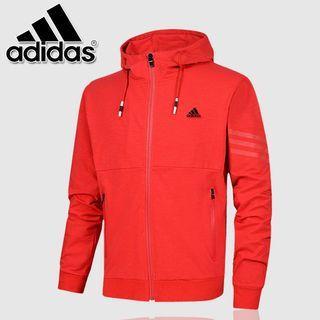 全新現貨Adidas春秋薄款連帽外套愛迪達運動外套拉鏈外套