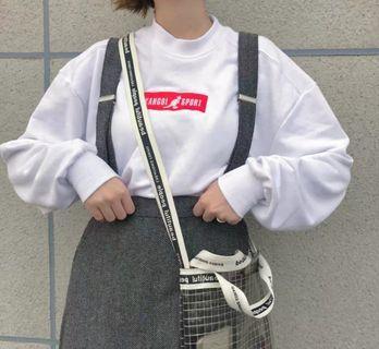 現貨0 🎶正版 🎌JP 日本 日系 kangol 袋鼠 白色 棉質 長袖T恤 大學T 街頭 潮流 寬鬆 復古