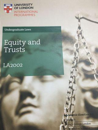 Law of Trusts UoL Subject Guide