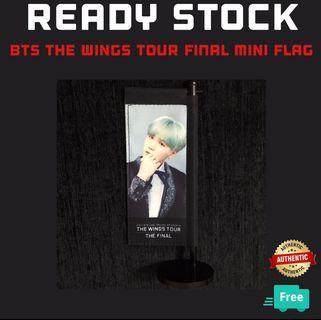 BTS THE WINGS TOUR THE FINAL SUGA MINI FLAG