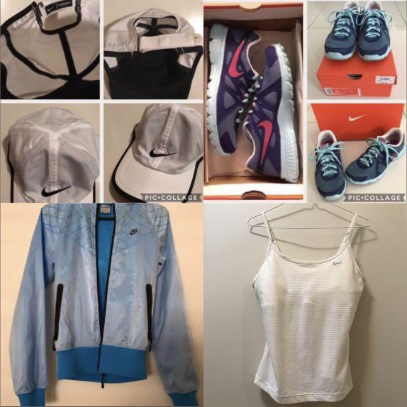 4 Nike items for $35! shoes, jacket, top, cap