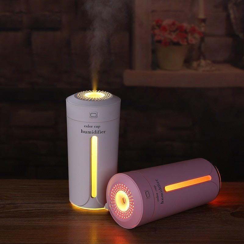加濕機 #空氣加濕器  #230ml 七彩小夜燈 USB加濕器 負離子 水氧機 香薰機 定時噴霧 防乾燒 車載 家用 辦公室 禮物