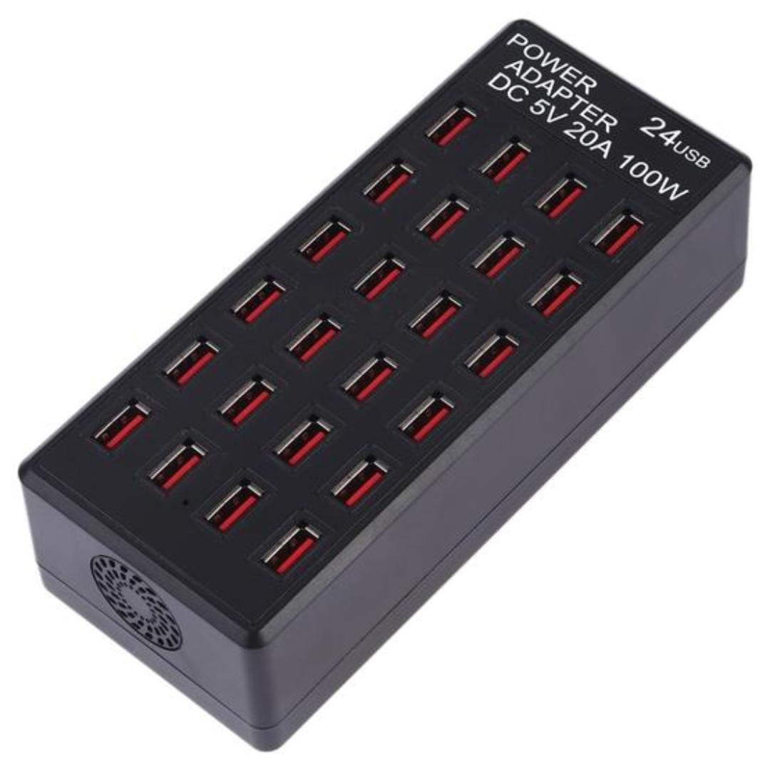 限量清倉 售完為止 24孔 USB 快速充電器 最高17.5W