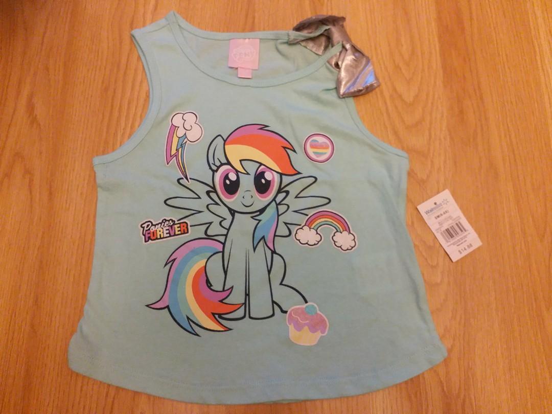 未剪牌 全新正版 my little pony 小馬寶莉 女童衫 合5至7歲