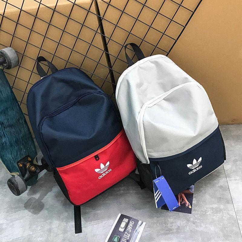 全新現貨adidas三葉草雙肩包愛迪達後背包學生書包電腦包