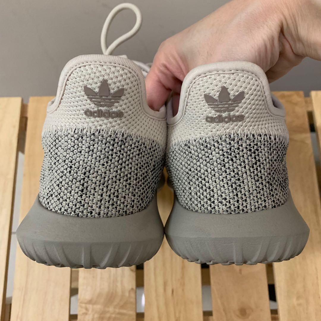 Adidas Tubular Shadow 米灰拼色 23.5cm(版型偏大適合24cm) 近全新