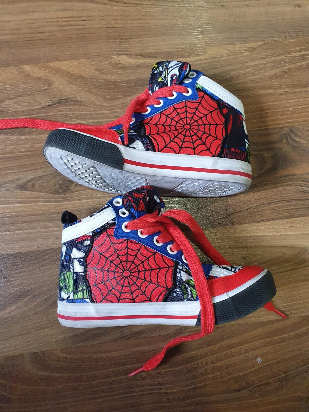 Authentic Disney Store Marvel Spiderman High Cut Sneakers