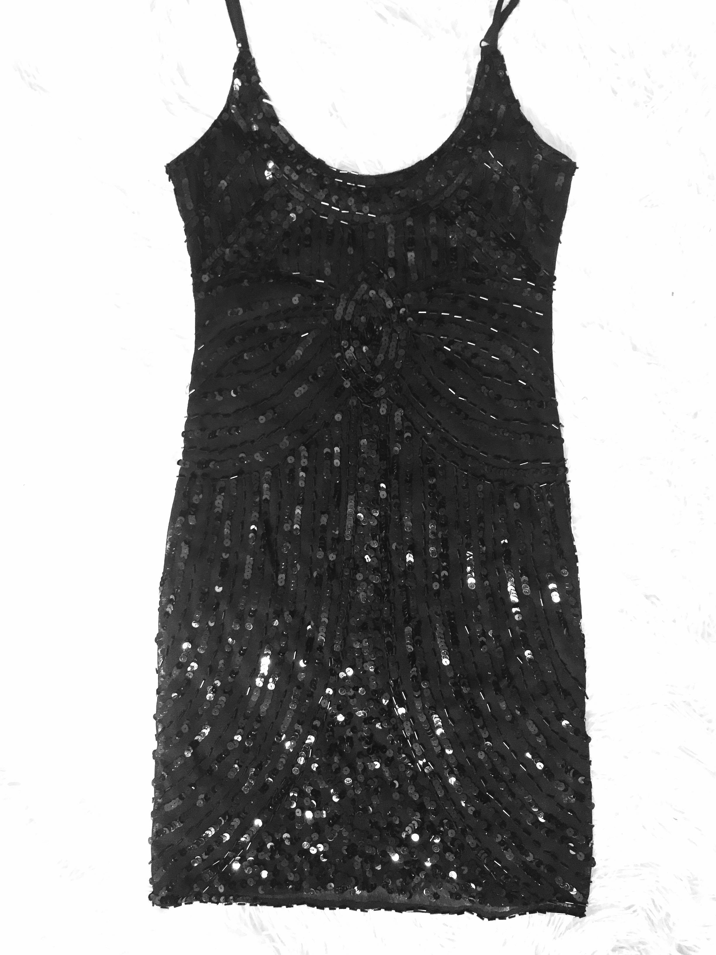 Black Beaded Dress Sz 8/10 (Races, Spring Carnival)