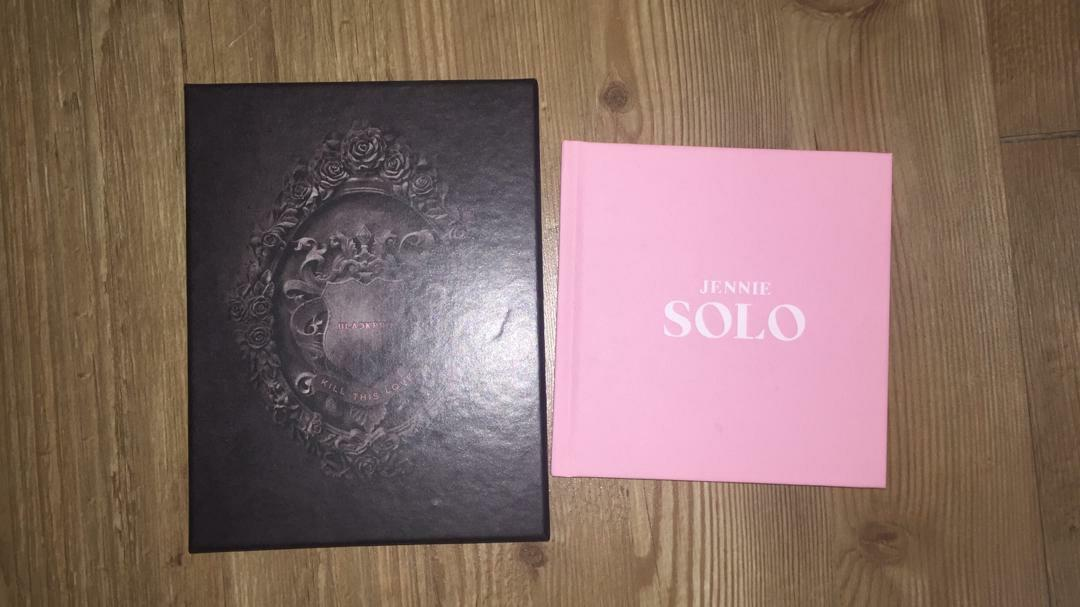 Blackpink kill this love album (black version) and Jennie solo album