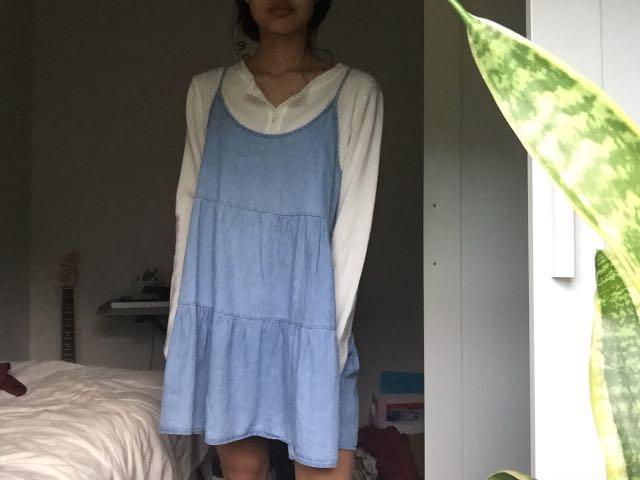 Blue slip on dress