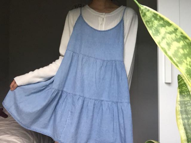 Blue slip on dress