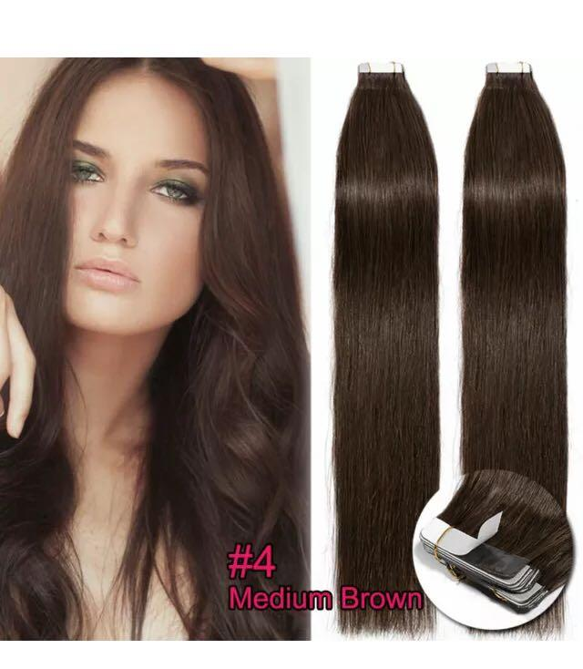 Brown 22 inch tape in extensions