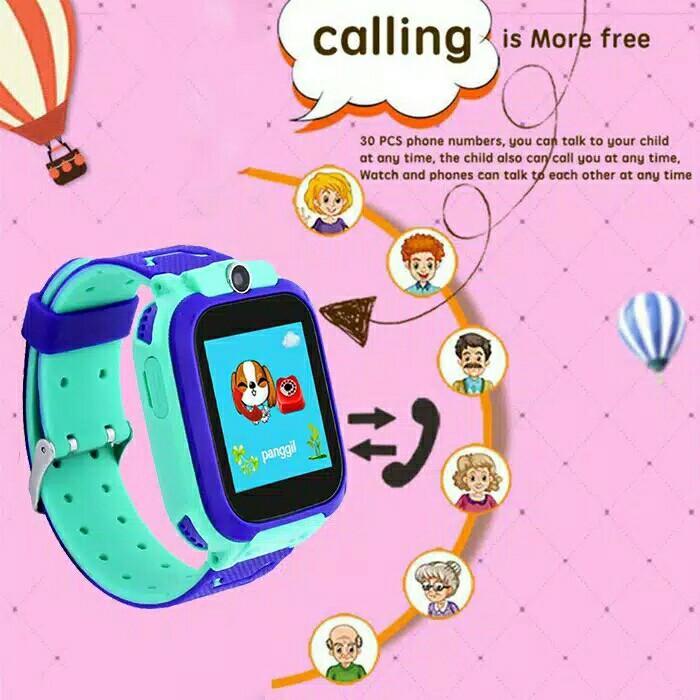 Dennos W23 W33 Kids Smart Watch Q12 Q12B Anak Jam Tangan Bluetooth SOS LBS
