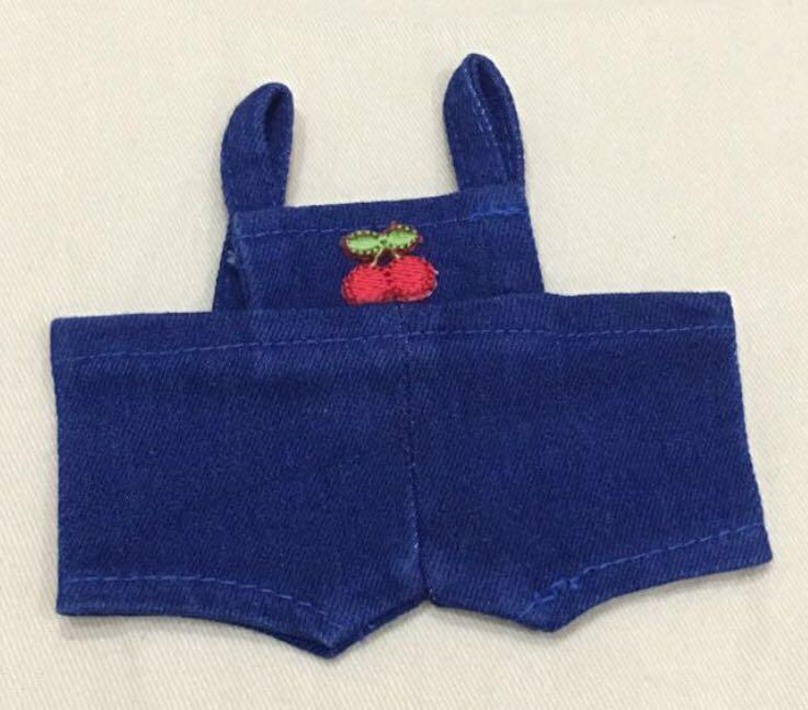DOLL CLOTHES DENIM OVERALL STRAWBERRY & CHERRY