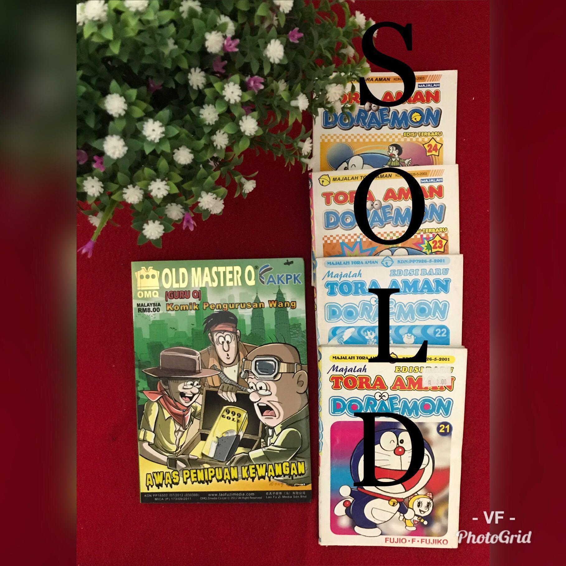 DORAEMON & OLD MASTER Q COMIC BOOKS
